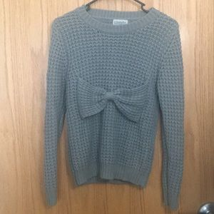 Urban Outfitters - Grey Bow Sweater | Worn Once